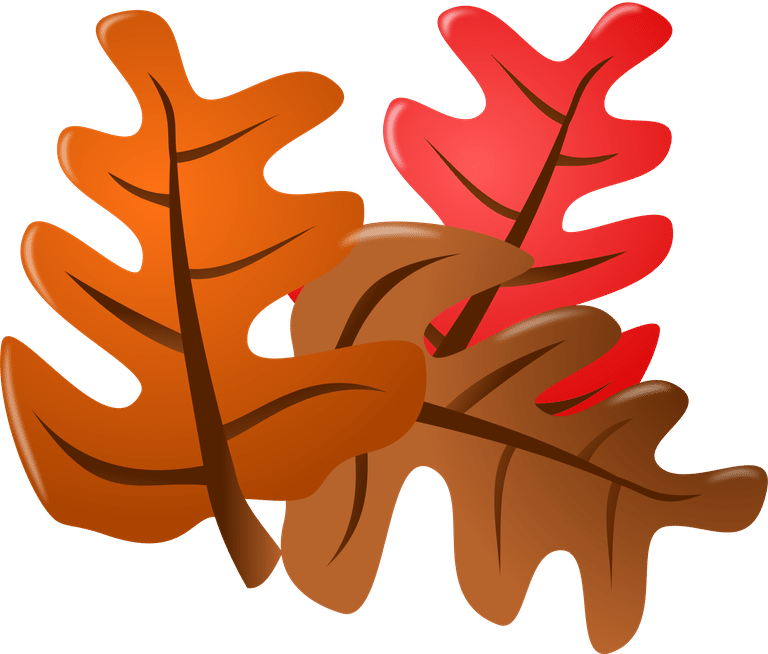 An Orange, Red, And Brown Fall Leaf.-An orange, red, and brown fall leaf.-0
