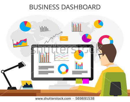 Business analyst. Professional business man analyzing business growth by  business dashboard. Marketing research concept
