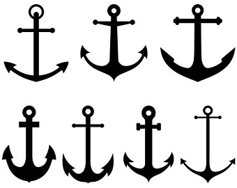 Anchor Clipart Vector Anchor Clip Art Nautical Clipart Steampunk Digital Scrapbooking Invitations Logo Silhouette Clipart Instant Download