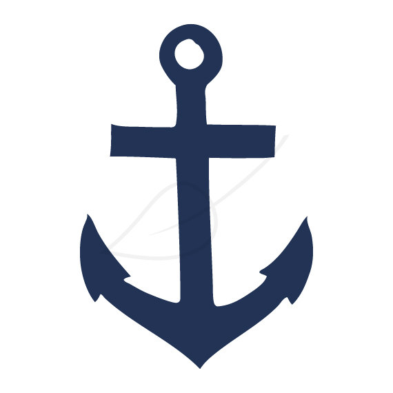 Anchor Digital Stamp Clip Art In Navy And By Greengardenstudios