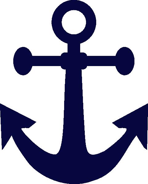 Anchor Navy Blue Clip Art