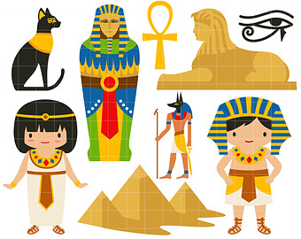 Ancient Egypt DIgital Clip Art For Scrap-Ancient Egypt DIgital Clip Art for Scrapbooking Card Making Cupcake Toppers Paper Crafts-3