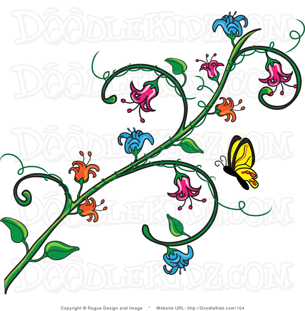 And Flower Vine Clipart .