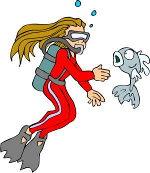 And last but not least, one more scuba diver clipart for the collection.