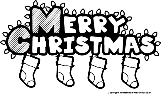And White Christmas Black And White Cli Of Merry Christmas Stocking