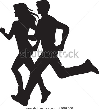 And Woman Running Clipart .