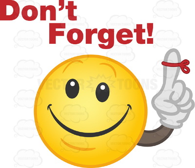 Dont Forget Clipart