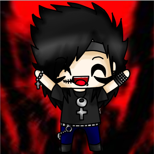 Andy Sixx Chibi by AngelNight - Andy Biersack Clipart