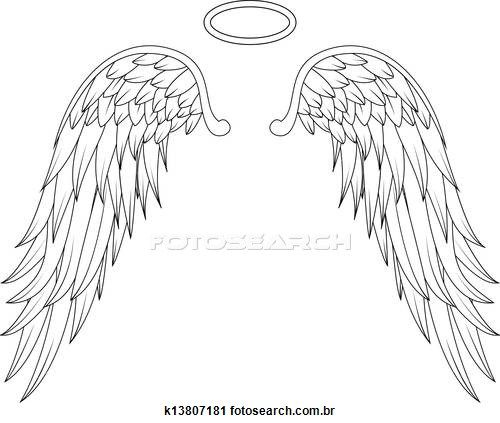 Angel wings Stock Illustratio - Angel Wings Clipart