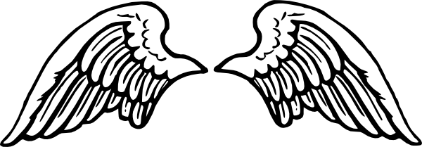 Angel wing clipart 0 white cl