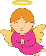 Angel With Halo Praying Clipart. Size: 6-angel with halo praying clipart. Size: 62 Kb-8