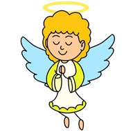 angel with halo praying clipa - Angel Clipart Images