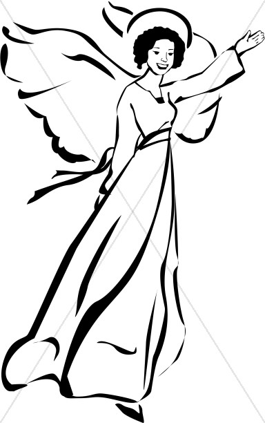 Angel Woman Clipart