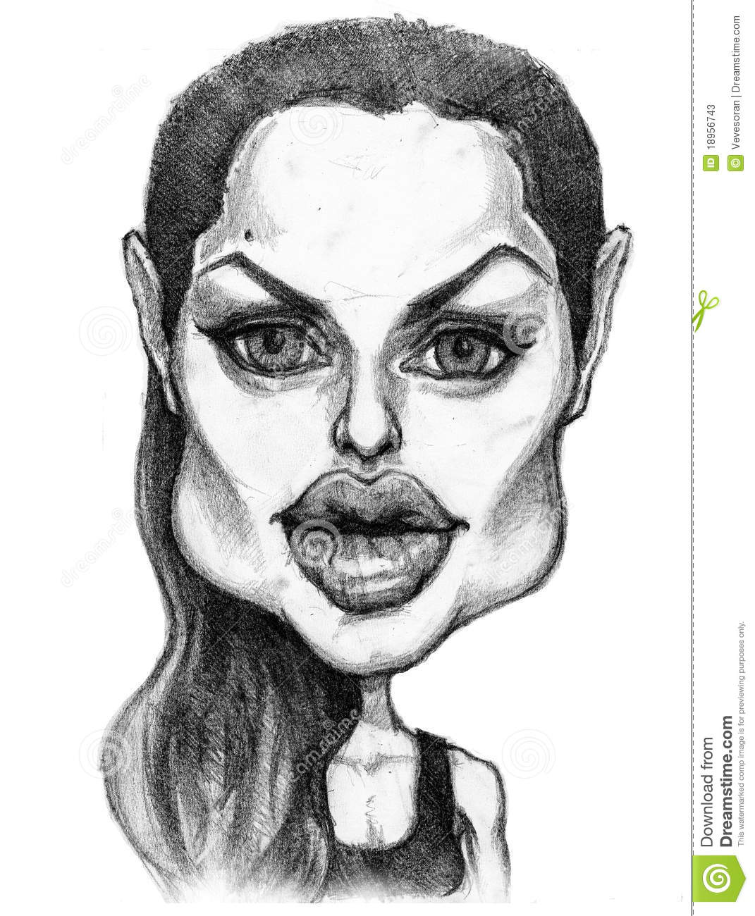 Angelina Jolie Caricature Editorial Stoc-Angelina jolie caricature editorial stock photo. Illustration of actress -  18956743-5