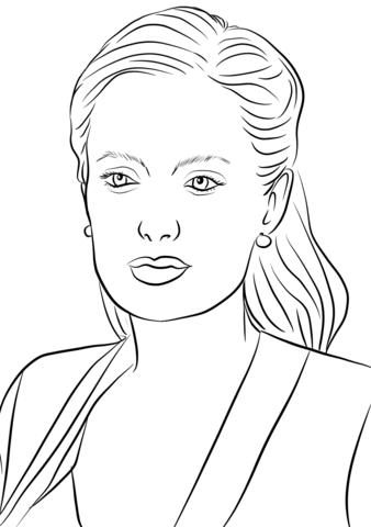 Angelina Jolie Coloring Page-Angelina Jolie coloring page-8