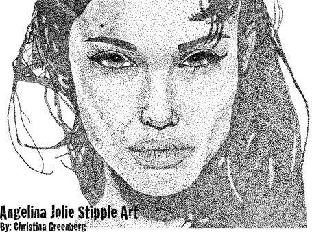 Angelina Jolie Noktalarla Sanat-Angelina Jolie noktalarla sanat-10