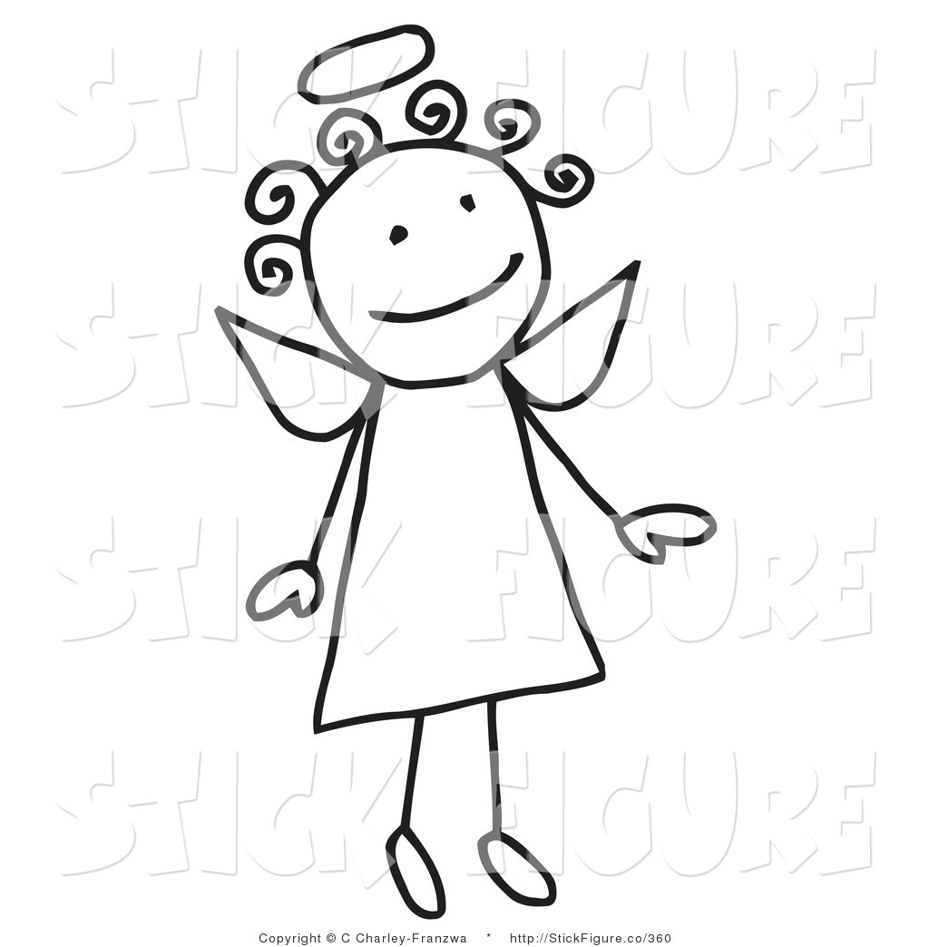 Angels Clip Art Free Clip Art Of A Flying Girl Stick Angel By C