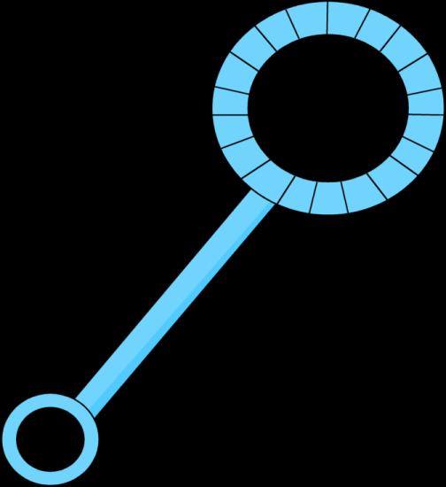Angled Blue Bubble Wand-Angled Blue Bubble Wand-0