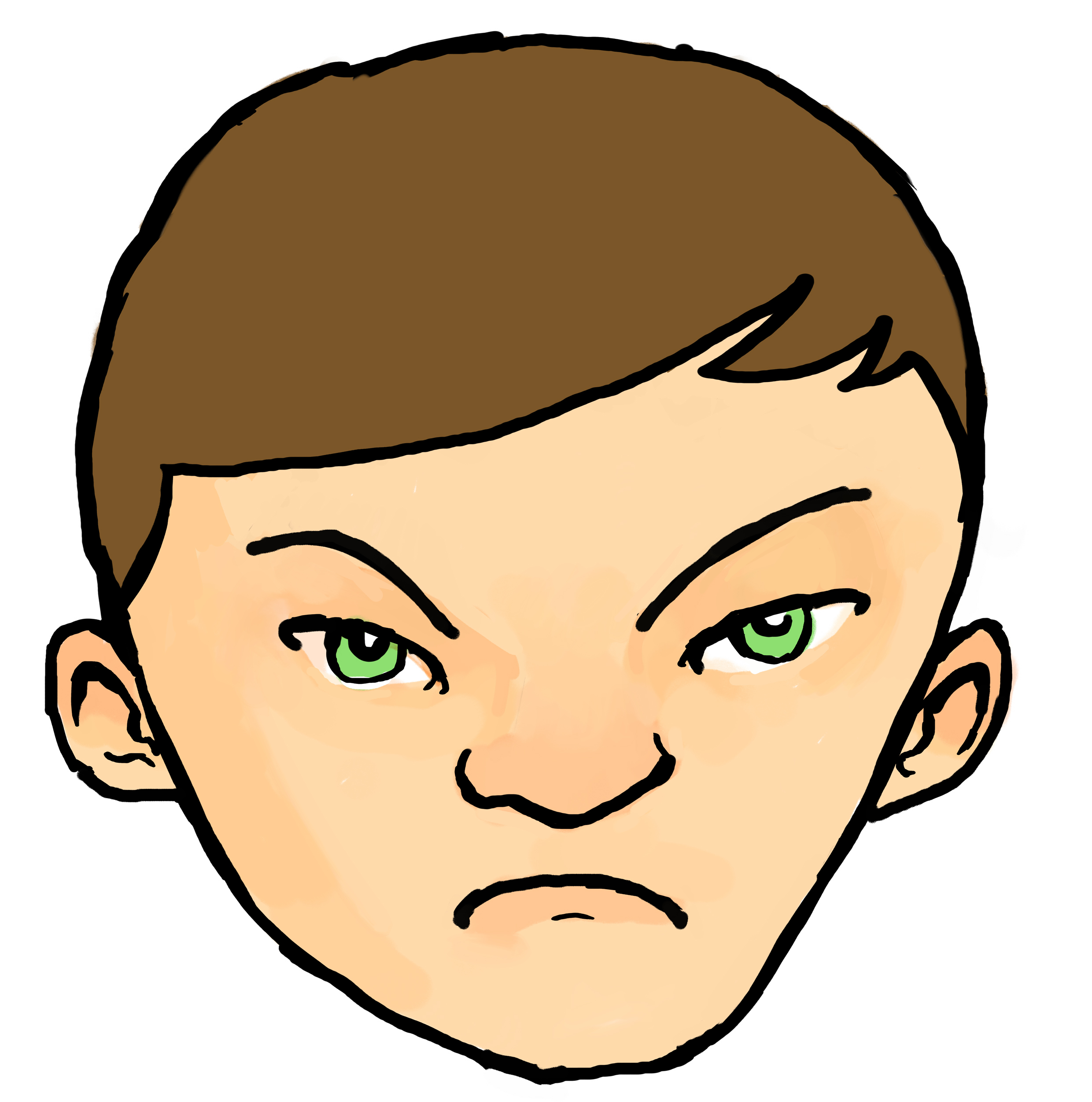 angry boy clipart