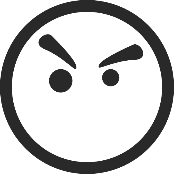 Angry Face Symbol Clip Art At Clker Com Vector Clip Art Online