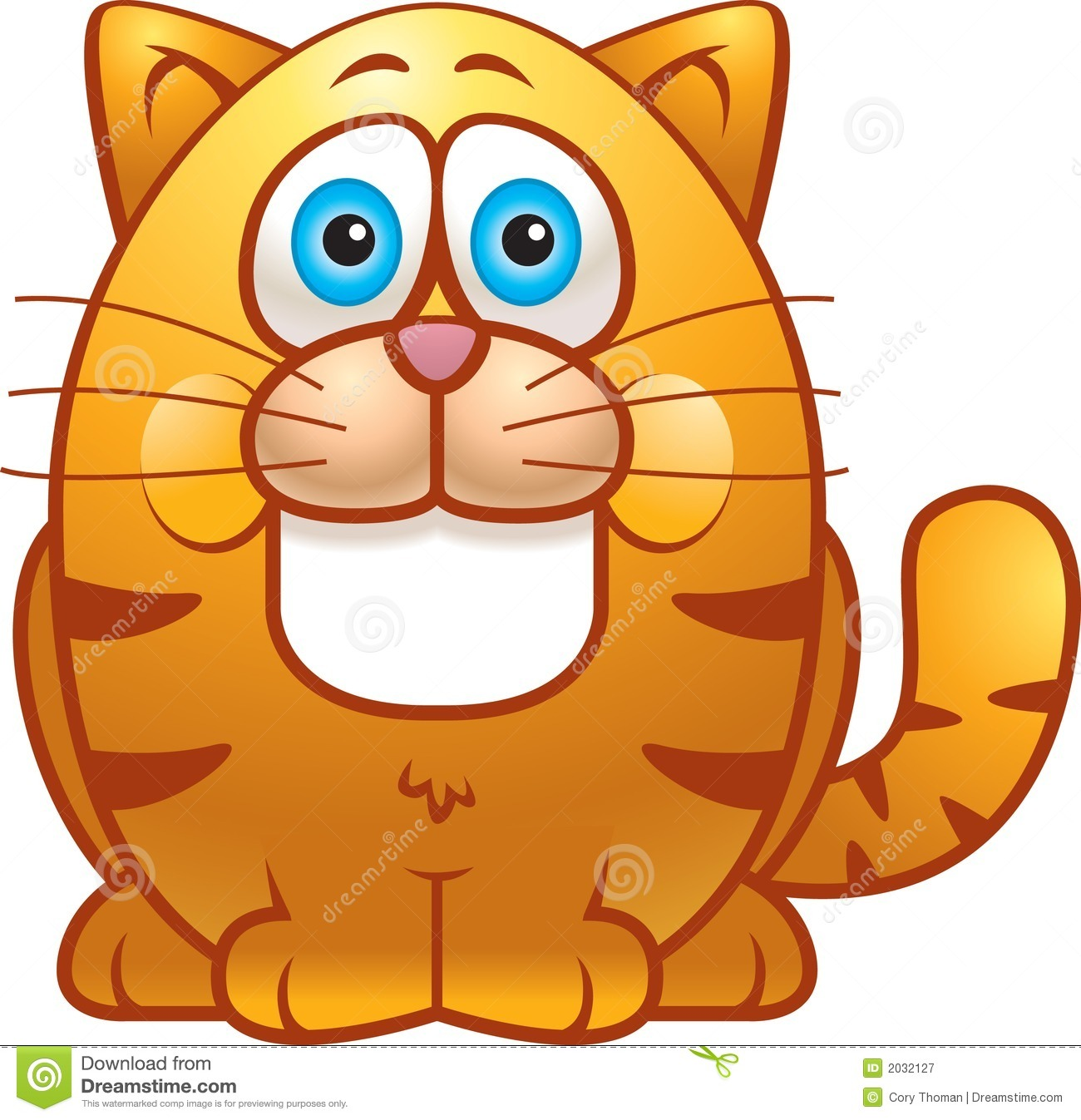 Angry Fat Cat Clipart