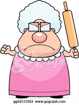 Angry Grandmother Clipart