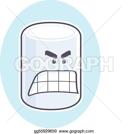 Angry Marshmallow - Marshmallow Clipart