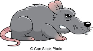 ... Angry Rat - A cartoon gray rat with an angry expression.