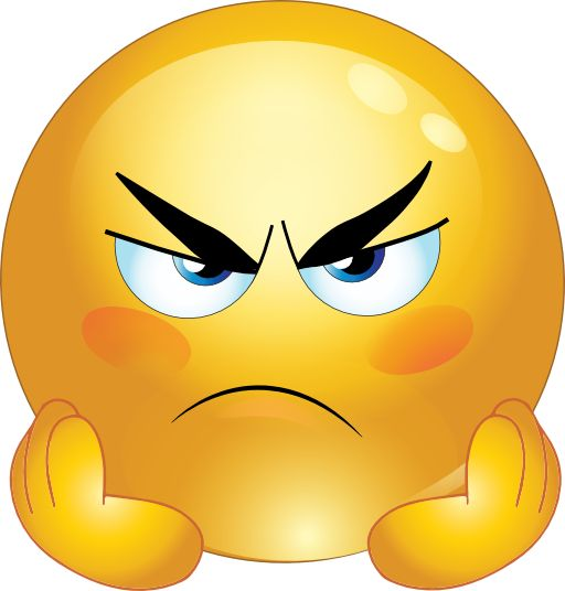Angry Smiley Face Emoticons Clipart | AUTISM | Pinterest | Smiley faces, Angry face and Emoticon