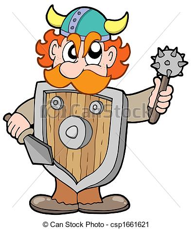 ... Angry viking warrior - isolated illustration. Angry viking warrior Clipartby ...