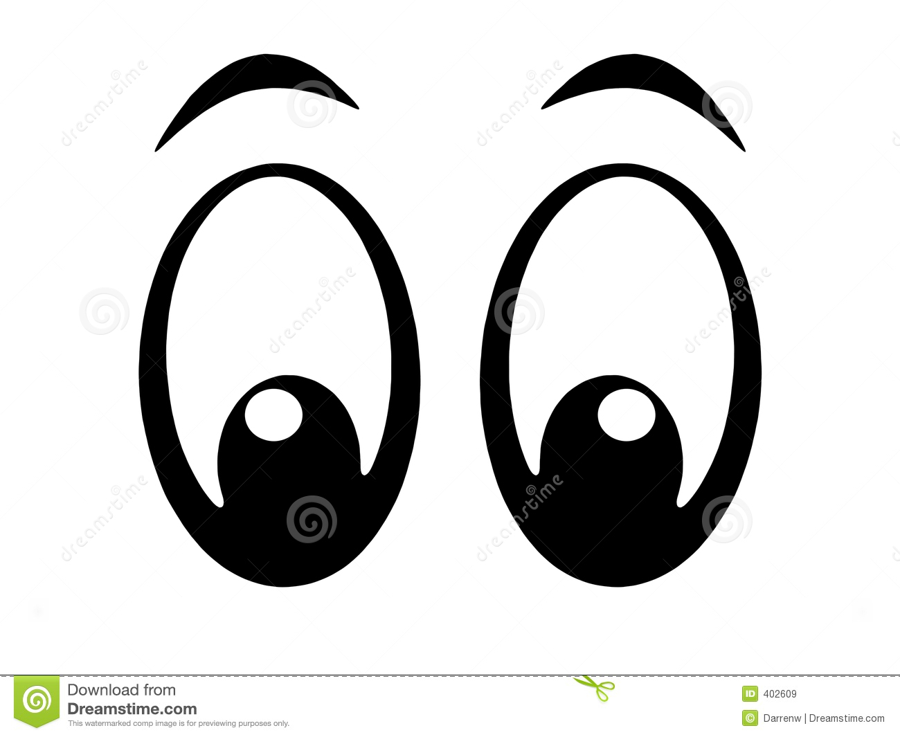 animal eye clipart black and white