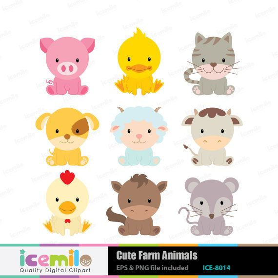Animal Clipart Animals Digital Baby Animals Digital Clipart Cute