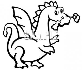 Animal Clipart Net Black And White Clipa-Animal Clipart Net Black And White Clipart Picture Of A Cute Dragon-0