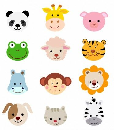 Animal Faces Clip Art Free