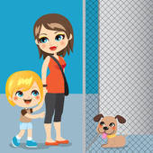 animal shelter cartoon