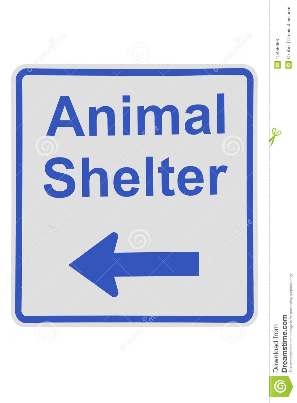 Animal Shelter Sign Royalty Free Stock I-Animal Shelter Sign Royalty Free Stock Image Image 19455656-4