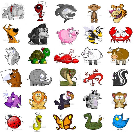 Animals Cartoon Animal Clipart Cute Cartoon Animal Pictures