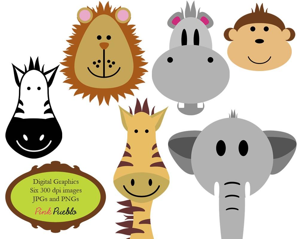 Animals Clip Art Clipart Zoo Jungle Safa-Animals Clip Art Clipart Zoo Jungle Safari Wild by PinkPueblo-2