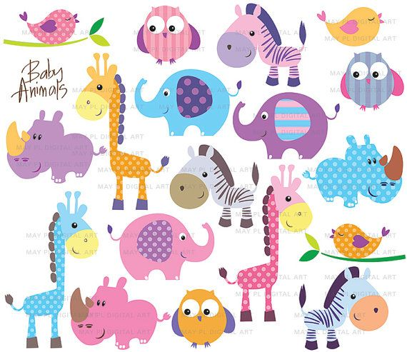 Animals Clipart Birthday .