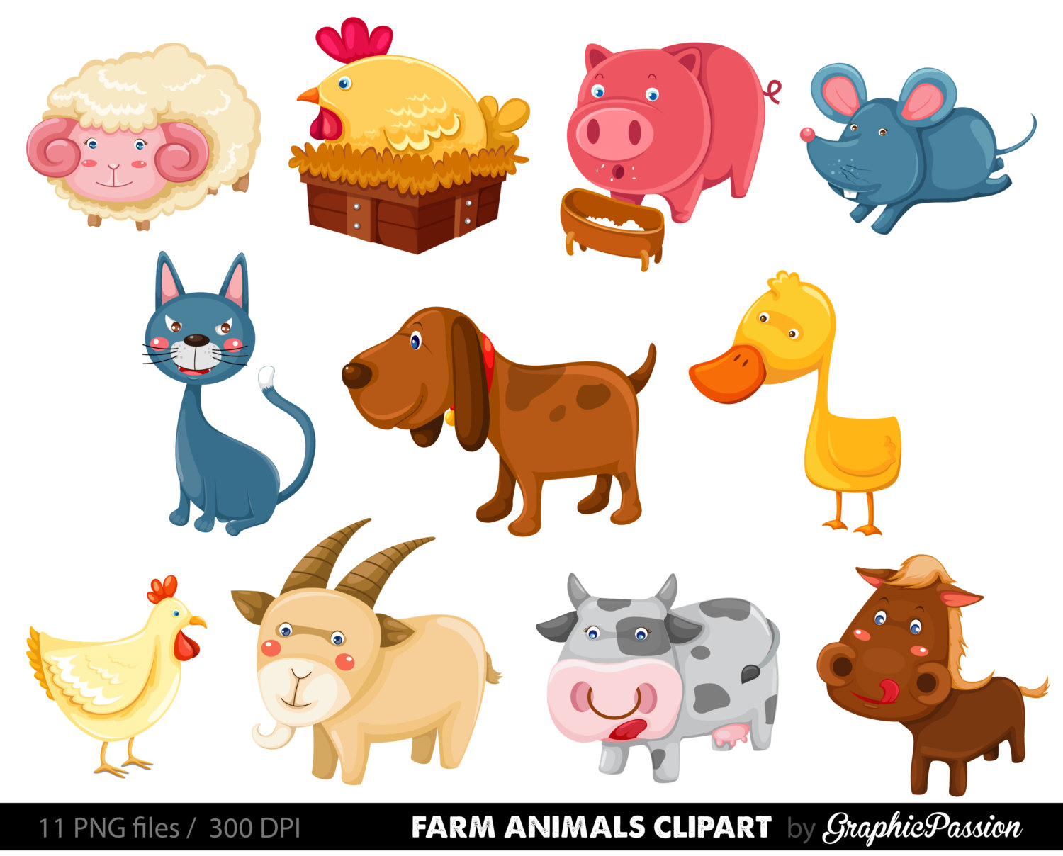 Animals Clipart, Farm.