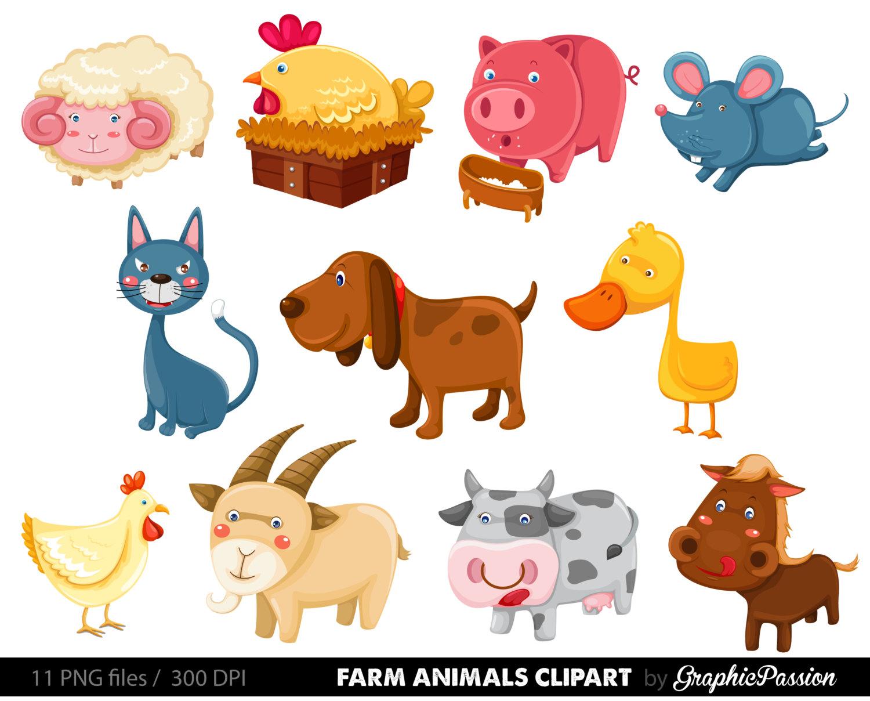 Animals Clipart, Farm. -Animals Clipart, Farm. -6