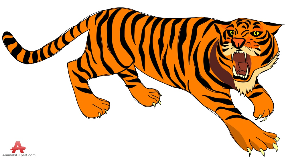 Animals Clipart of tiger