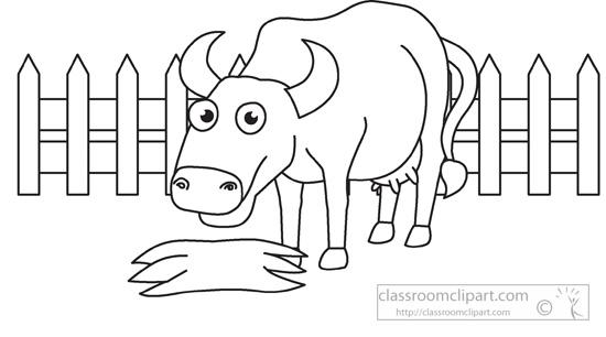 Farm Animal Clipart Black And White