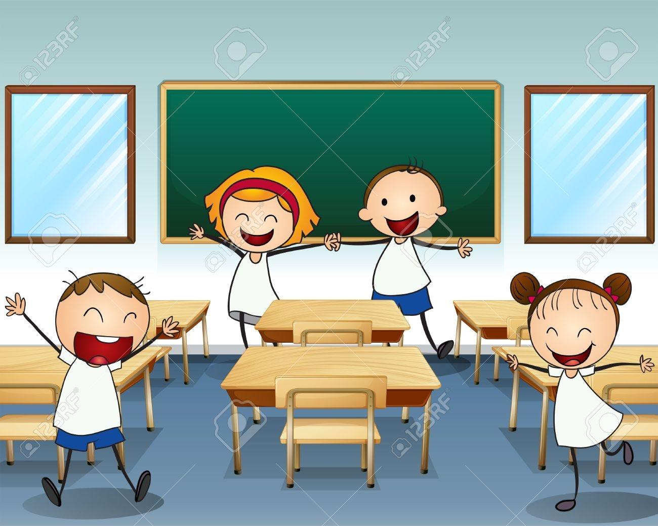 Animated Classroom Clipart
