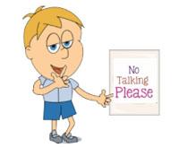 No Talking Clipart