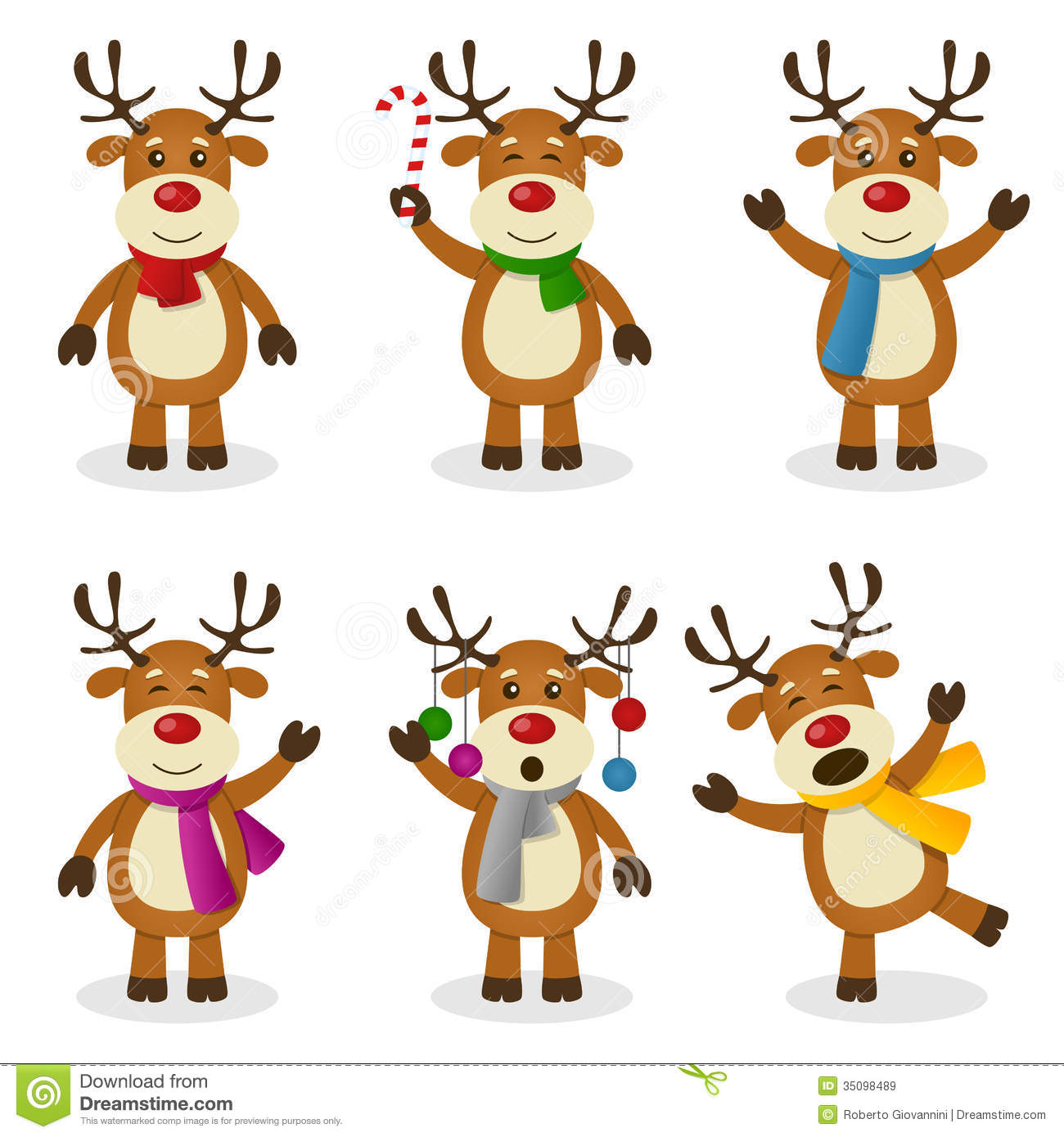 Animated Reindeer Clipart .
