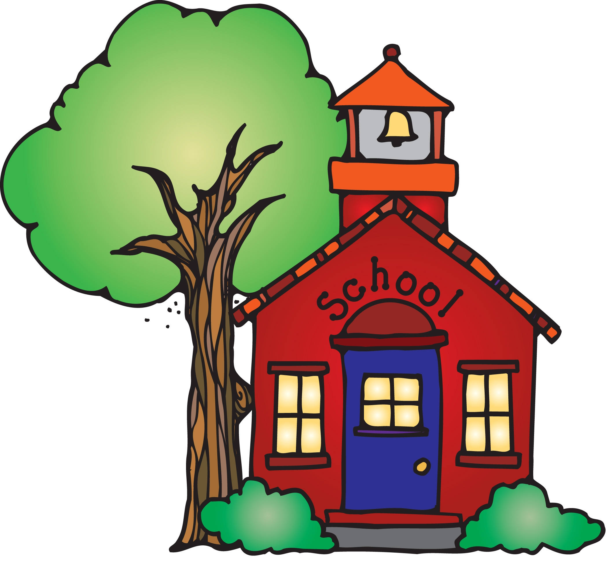 Animated Schoolhouse Clipart .-Animated Schoolhouse Clipart .-1