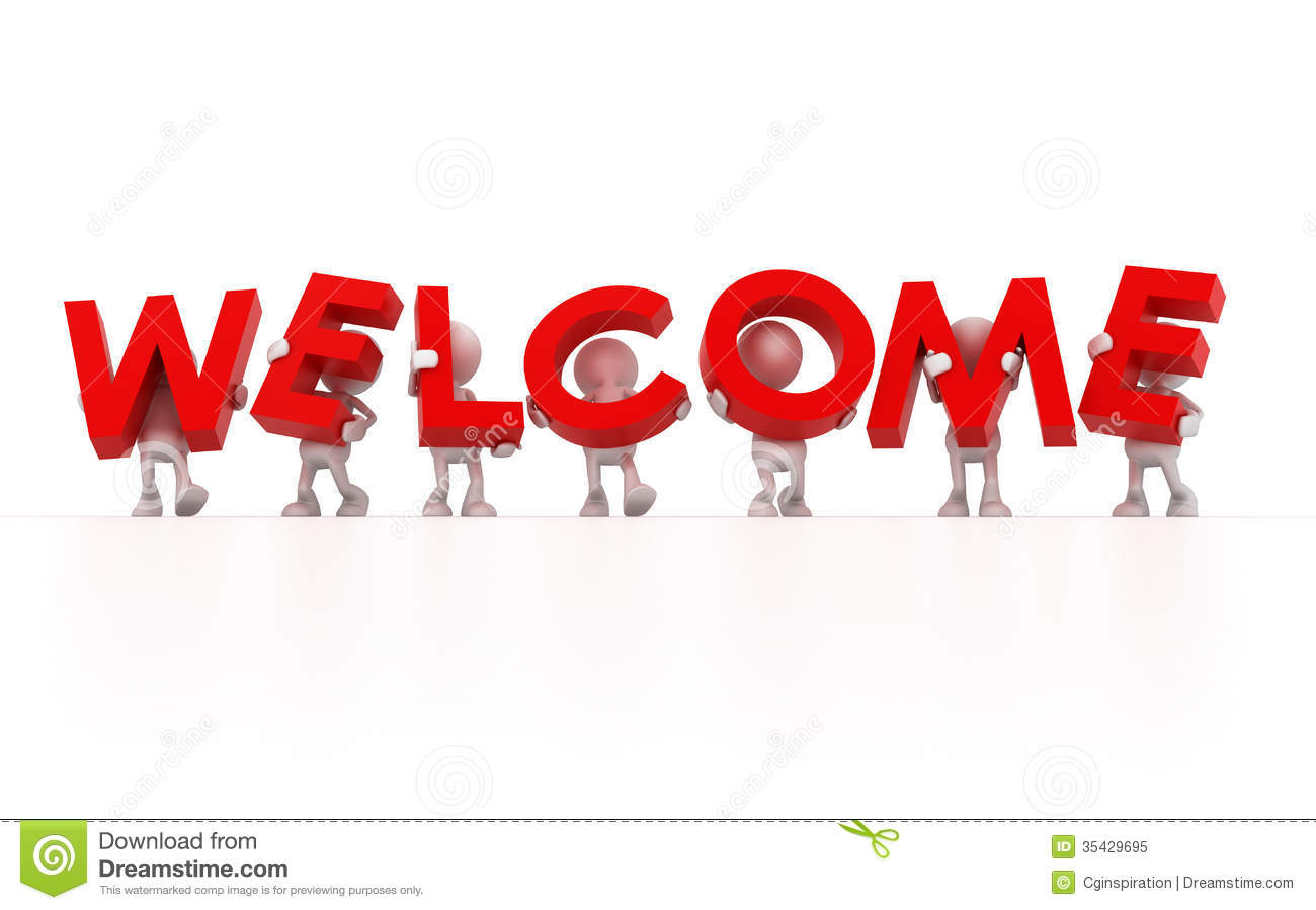 Animated welcome. Free clip art