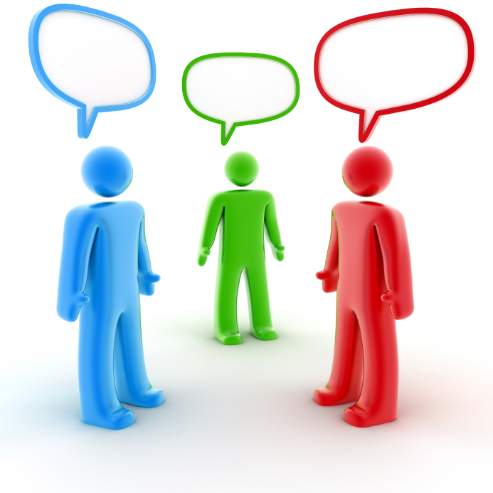 animation of three people talking. Clipart People Talking