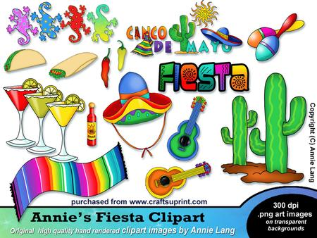 Annie S Fiesta Clipart Designer Resources